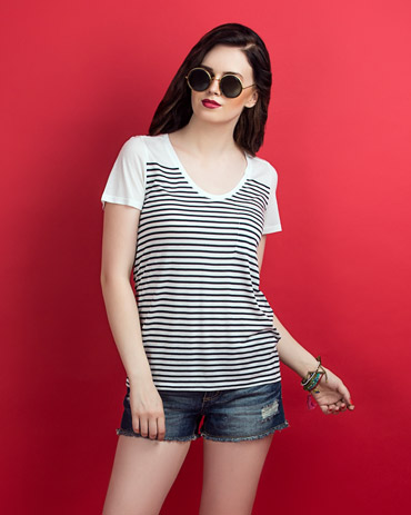Engineered Striper Tee