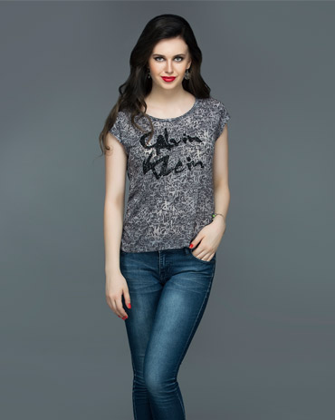 Burnout Tee With Print