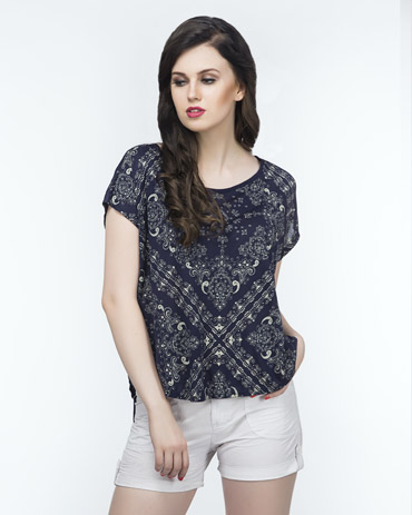 Printed Boxy Top